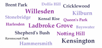 Catchment word cloud